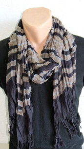scarf,mens scarf,man scarf,guys,flannel scarf,striped scarf,brown scarf