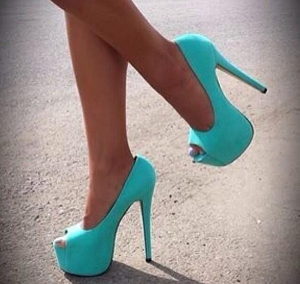 high heels sandals light blue - photo #44