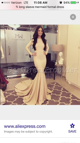 dress prom dress prom mermaid prom dress mermaid champagne dress long prom dress long sleeve dress