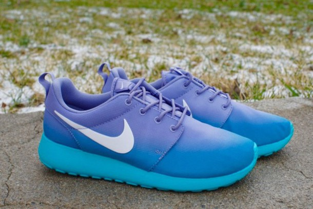 shoes roshe runs blue purple ombre