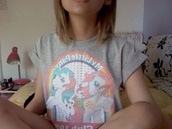 t-shirt,grey,my little ponny,grunge,soft grunge,cute,horse