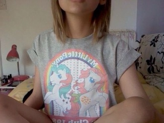 t-shirt grey my little ponny grunge soft grunge cute horse