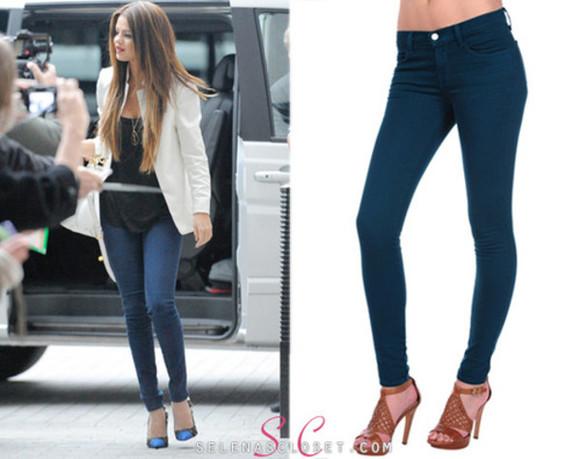 selena gomez selena gomez jacket jeans high heels white