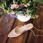 shoes,flats,lace up flats,lace-up shoes,cut out flats,melon,peach,pink,girly,fashion,trendy,cute shoes,qupid