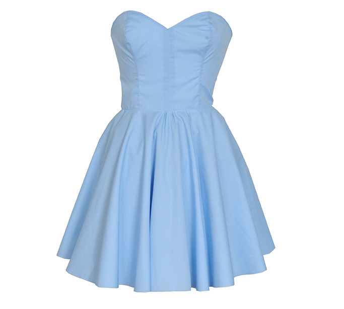 Pastel blue party prom dress
