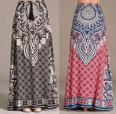 Printed maxi skirt · trendyish · online store powered by storenvy