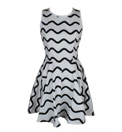 Striped Skater Dress - New Arrivals