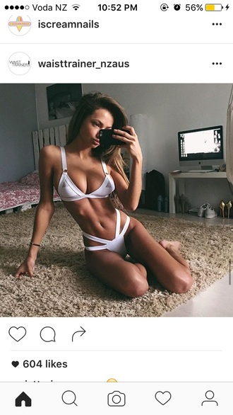 swimwear white bikini triangle
