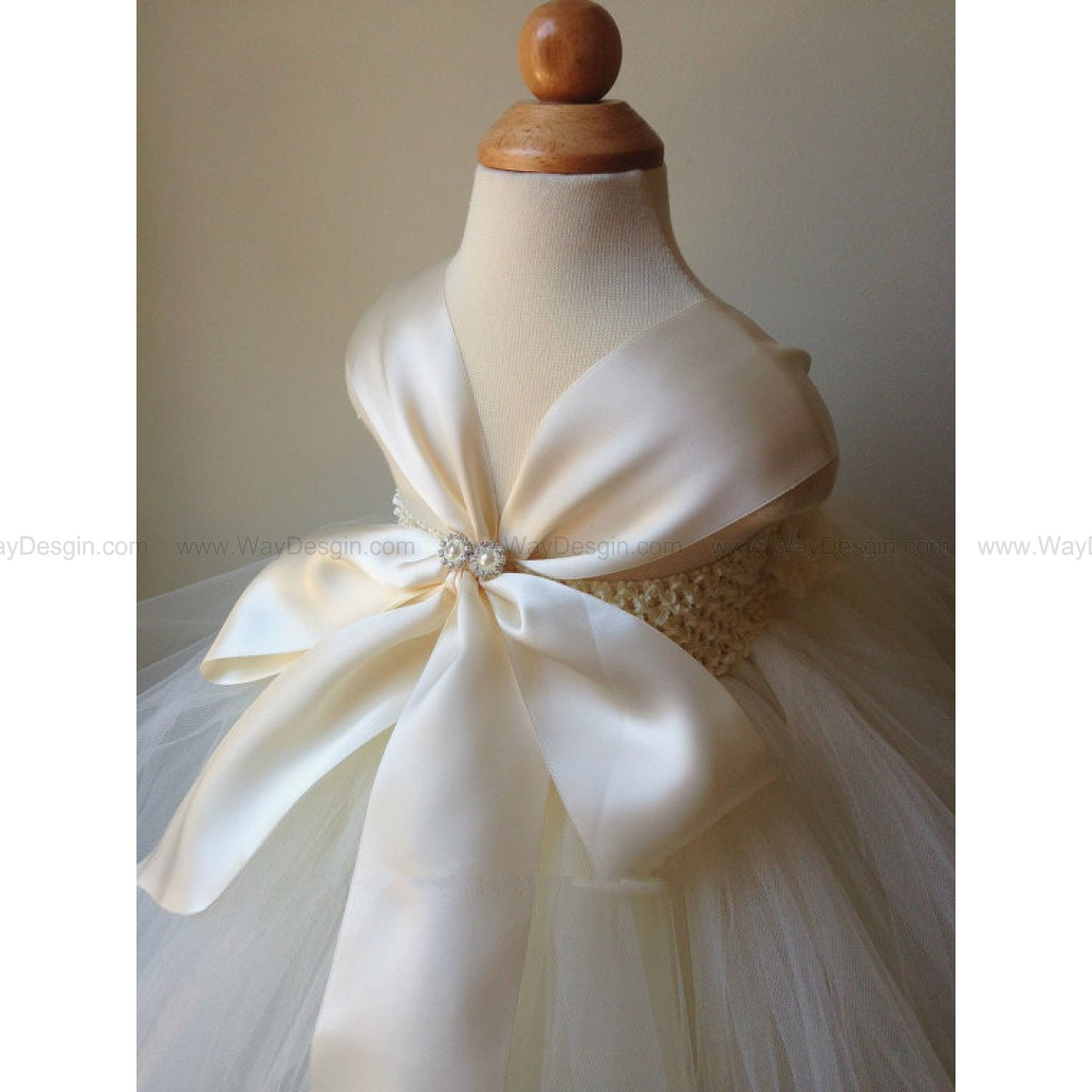 Flower girl dress, ivory and champagne tutu dress, baby tutu dress, toddler tutu dress, newborn