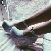white,high heels,shoes,chunky heels,leather,pleather,girl,fashion,white shoes,platform shoes,white platforms,heels,alternative,chunky,hipster,platform heels,cleated sole platforms,heeled shoes,alternative shoes,chunky sole