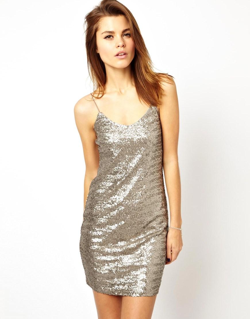 ASOS Sequin Cami Mini Dress at asos.com