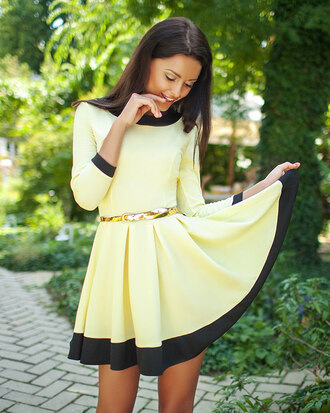 dress zefinka a line dress pink dress yellow dress in love pretty dress yellow pink belted dress cute girly dress girly boho boho dress long dress stylish skater dress