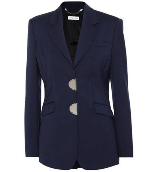 Altuzarra Tuttle stretch wool blazer in blue
