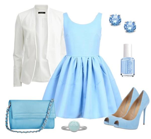 dress outfit fashion ootd blue blue dress
