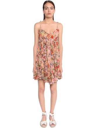 dress mini dress mini chiffon floral print multicolor