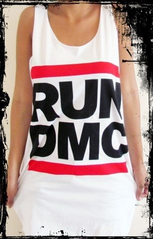 **Run DMC Vest** Free Size Tank Top Singlet T-Shirt **Sizes S-XL** | eBay