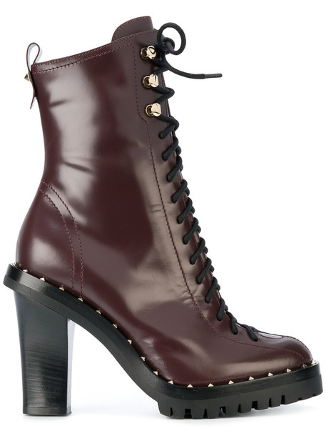 Valentino women leather red shoes