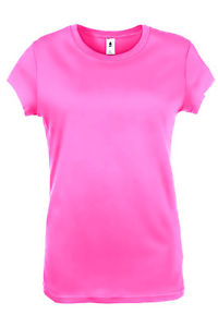 Hot Pink Junior Basic Tshirt Short Sleeve Plain Tee Crew Neck s 2XL Top | eBay