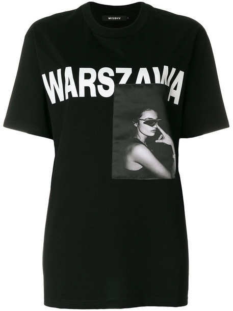 Misbhv - Warsaw print T-shirt - women - Cotton - XS, Black, Cotton