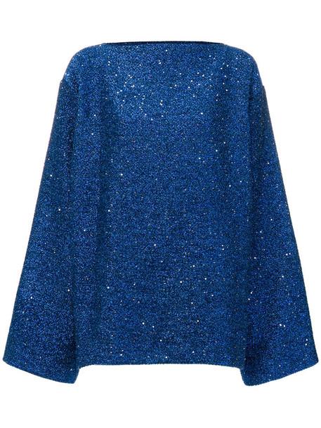 Haider Ackermann jumper glitter oversized women blue sweater