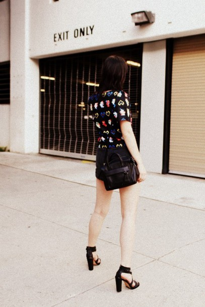 the stylish wanderer blouse shorts jeans shoes bag japanese all over print