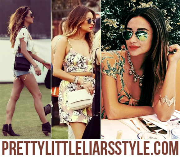 bag shay mitchell pretty little liars coachella sunglasses