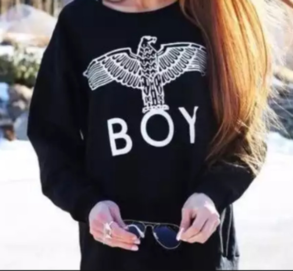 sweater boy london black sweatshirt hipster girl long sleeves