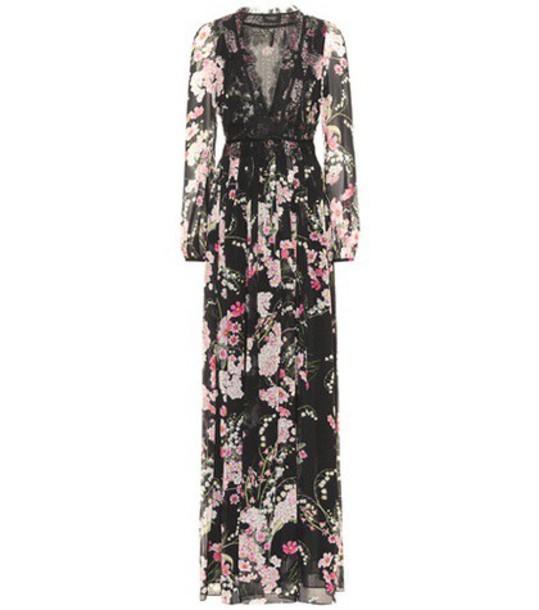 GIAMBATTISTA VALLI gown floral silk black dress