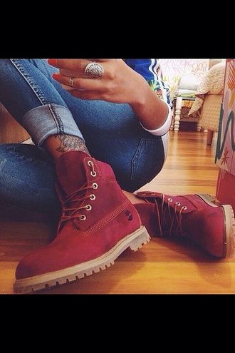 shoes timberland boots shoes boots burgundy burgundy shoes