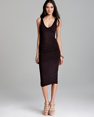 James Perse Tank Dress - Skinny Ruched | Bloomingdale's