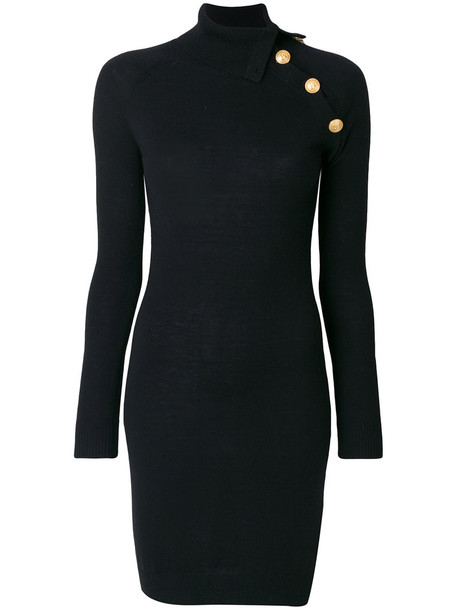 Pierre Balmain dress women black wool