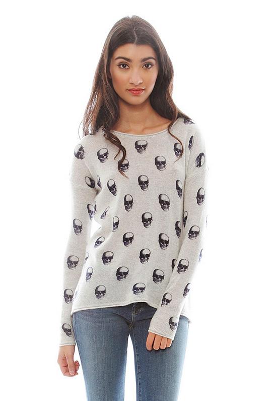 Skull Cashmere Jackie Dee Sweater | SINGER22.com