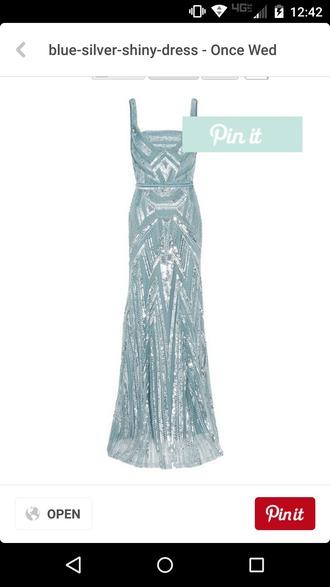 dress light blue 20s inspired