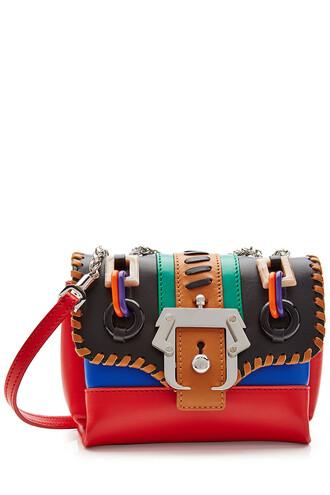 bag shoulder bag leather multicolor