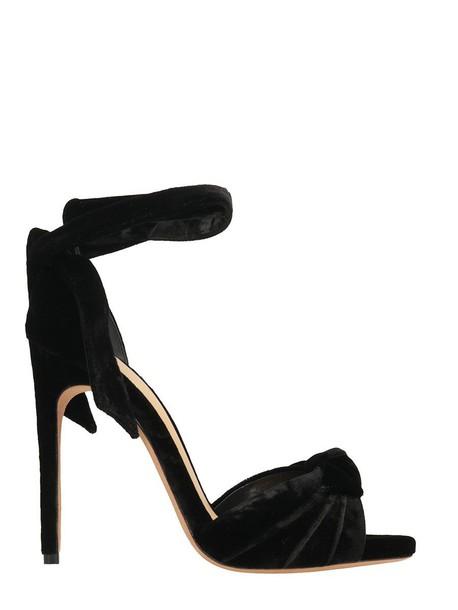 Alexandre Birman bow sandals black shoes