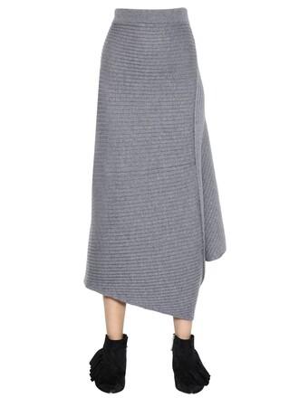 skirt knit wool grey