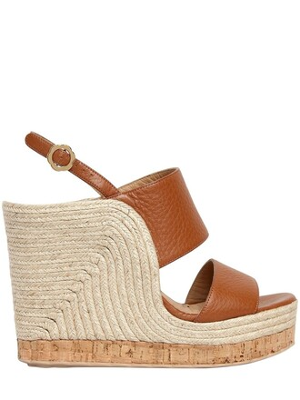wedges leather wedges leather tan shoes