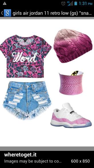 shirt shoes pink everything cloth blackamazon hat