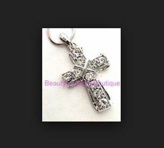 jewels cross necklace cross logo silver dimonds silver necklace sterling silver necklace white jewels grey jewels