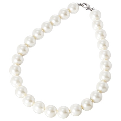 Pearl Choker Necklace - White : Target