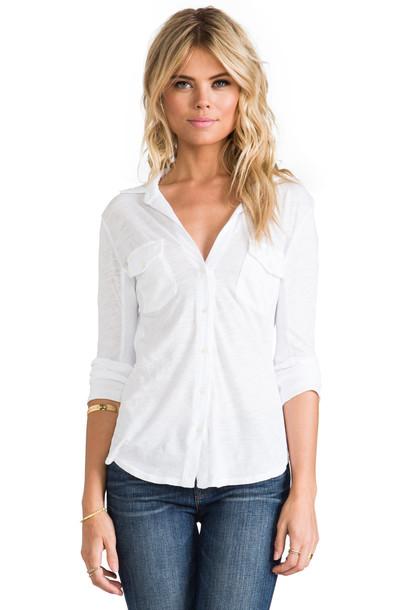 James Perse shirt white