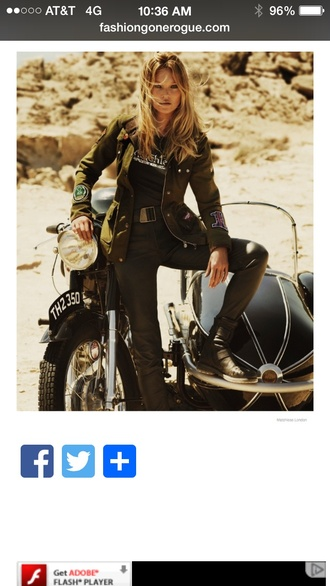 jacket love kate moss jacket from matchless