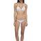 Palm print bikini set - dora palm aqua