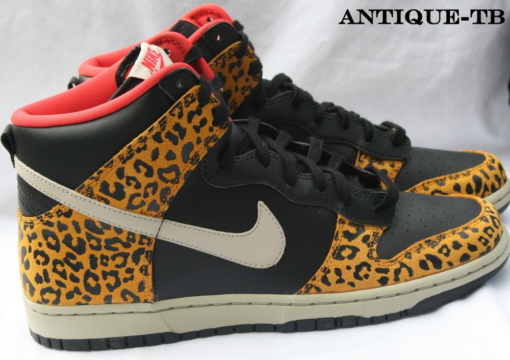 Nike Dunk High Skinny Leopard Cheetah Womens New 429984 011 B Grade RARE DS | eBay