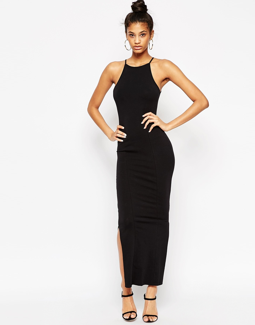 Maxi Dress with 90s High Neck at asos.com