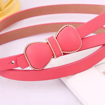 Meters exquisite bow all match fashion thin belt decoration women's cummerbund 18