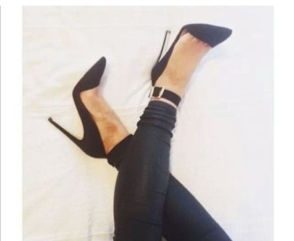 shoes black points ankle strap sandals