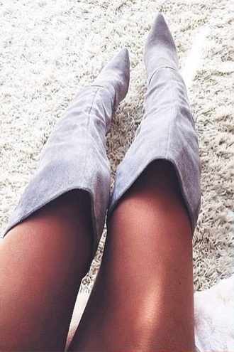 shoes grey suede boots fashion boots knee high boots grey shoes grey boots suede boots