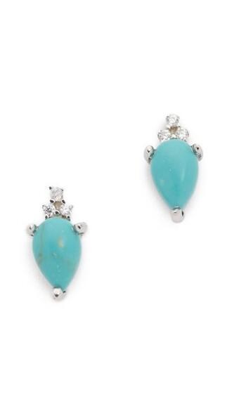 earrings stud earrings turquoise jewels