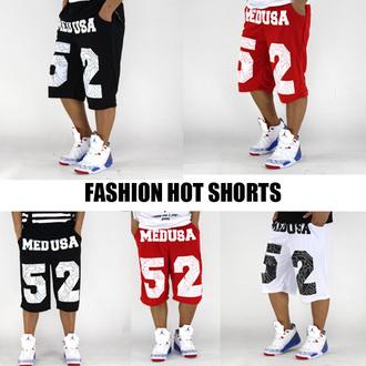 shorts medusa pyrex 52 red white black